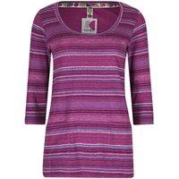 Weird Fish Paloma Fancy Stripe T-Shirt Sloeberry Size 14