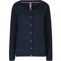 Weird Fish Ammi Cable Knit Outfitter Cardigan Dark Navy Size 20