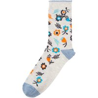 Weird Fish Huron Printed Sock Clementine Size 4-7