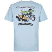 Weird Fish Motorpike & Sidecarp Artist T-Shirt Blue Surf Size S