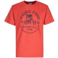 Weird Fish Rebel Graphic Print T-Shirt Dark Red Marl Size 5XL