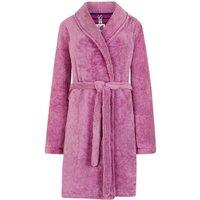 Weird Fish Fernanda Plush Fur Fleece Dressing Gown Sloeberry Size S