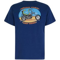 Weird Fish Eely Rider Artist T-Shirt Ensign Blue Size 2XL