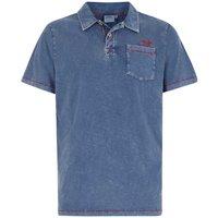 Weird Fish Morrison Garment Dyed Polo Shirt Estate Blue Size 4XL