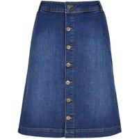Weird Fish Vixey Denim Skirt Dark Blue Size 14