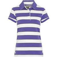 Weird Fish Mallow Short Sleeve Yarn Dyed Stripe Rugby Purple Opulence Size 14