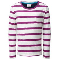 Weird Fish Evie Striped Jersey T-Shirt Sloeberry Size 34