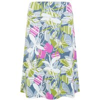 Weird Fish Malmo Printed Jersey Skirt Petrol Blue Size 8