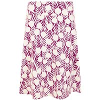 Weird Fish Malmo Printed Jersey Skirt Boysenberry Size 20