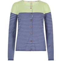 Weird Fish Alexis Striped Nep Outfitter Cardigan Dark Lavender Size 20
