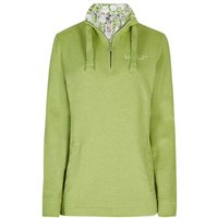 Weird Fish Bina 1/4 Zip Print Lined Sweatshirt Lime Size 20