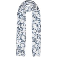 Alverton Printed Polyester Scarf Dark Denim