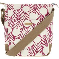 Weird Fish Amira Printed Cotton Cross Body Bag Boysenberry Size ONE