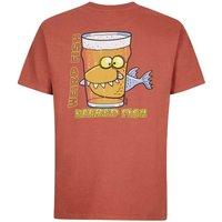 Weird Fish Beered Fish Artist T-Shirt Brick Red Size M