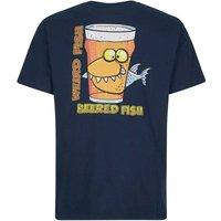 Weird Fish Beered Fish Artist T-Shirt Maritime Blue Size 3XL
