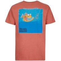 Weird Fish Piranha Artist T-Shirt Brick Red Size 4XL