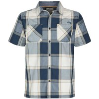 Weird Fish Trevelyan Micro Sanded Short Sleeve Check Shirt Maritime Blue Size 3XL