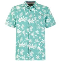 Weird Fish Mullins Hawaiian Short Sleeve Shirt Menthol Size 2XL