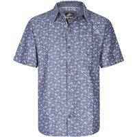 Weird Fish Niven Floral Print Short Sleeve Shirt Denim Size M