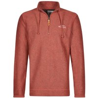 Weird Fish Skipper 1/4 Zip Classic Macaroni Sweatshirt Brick Red Size 2XL