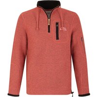 Weird Fish Bowline 1/4 Zip Technical Macaroni Sweatshirt Brick Red Size 5XL