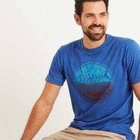 Weird Fish Gradient Bones Graphic Print T-Shirt Deep Ocean Marl Size 2XL