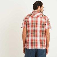 Weird Fish Darros Slub Short Sleeve Check Shirt Baked Apple Size 2XL