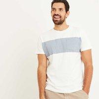 Weird Fish Jenthe Printed Chest Stripe T-Shirt Marshmallow Size S