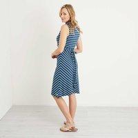 Weird Fish Pascale Lightweight Striped Dress Dark Denim Size 16
