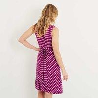 Weird Fish Pascale Lightweight Striped Dress Boysenberry Size 14