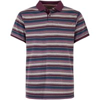 Weird Fish Bolam Stripe Polo Wine Size 4XL