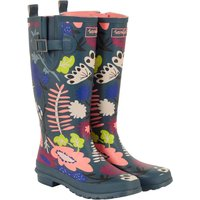 Weird Fish Sazi Printed Welly Dusty Teal Size 6