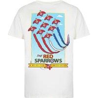 Weird Fish Red Sparrows Artist T-Shirt Marshmallow Size S