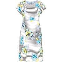 Weird Fish Tallahassee Printed Cotton Jersey Dress Cream Size 14