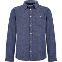 Weird Fish Kris Long Sleeve Mini Gingham Shirt Maritime Blue Size 4XL