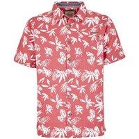Weird Fish Mullins Hawaiian Short Sleeve Shirt Rose Size 2XL