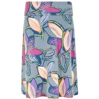 Weird Fish Accona Quick Dry Printed Jersey Skirt Dusty Teal Size 10
