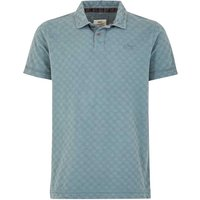 Weird Fish Herger Pigment Dyed Stripe Polo Dusty Teal Size 4XL
