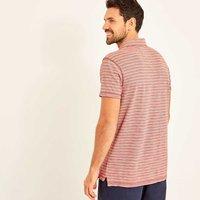 Weird Fish Gibson Slub Stripe Polo Shirt Baked Apple Size 3XL