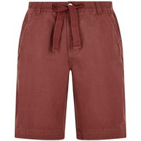 Weird Fish Gifford Cotton Twill Shorts Oxblood Size 30