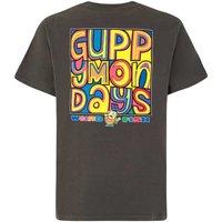 Weird Fish Guppy Mondays Artist T-Shirt Washed Black Size 5XL