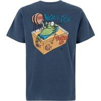 Weird Fish Tanked Up Artist T-Shirt Ensign Blue Size L