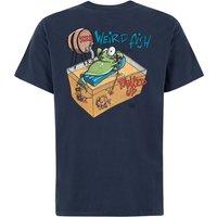 Weird Fish Tanked Up Artist T-Shirt Black Iris Size 2XL