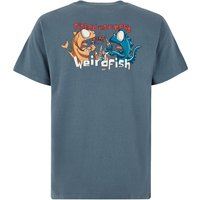 Weird Fish Fished As A Newt Artist T-Shirt Dusty Teal Size S