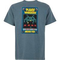 Weird Fish Plaice Invaders Artist T-Shirt Dusty Teal Size 5XL