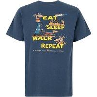 Weird Fish Eat Sleep Walk Artist T-Shirt Ensign Blue Size 3XL