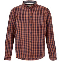Weird Fish Blakely Long Sleeve Gingham Check Shirt Brick Orange Size 3XL