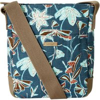 Weird Fish Amira Printed Slub Cross Body Bag Deep Sea Blue Size ONE