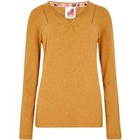 Weird Fish Walkabout Slub Cotton T-Shirt Saffron Size 20