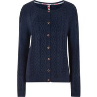 Weird Fish Sara Cable Knit Outfitter Cardigan Dark Navy Size 10